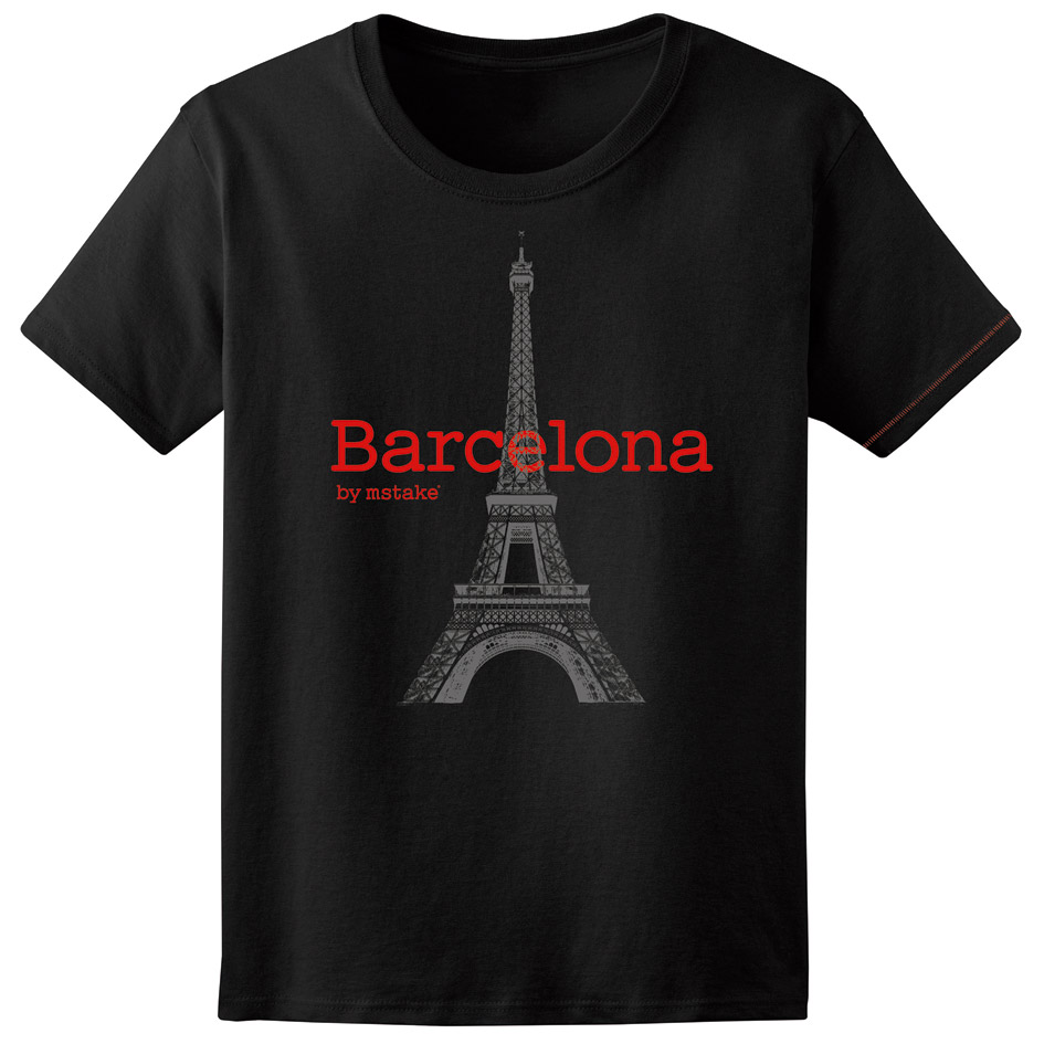 Barcelona + Eiffel Woman Black