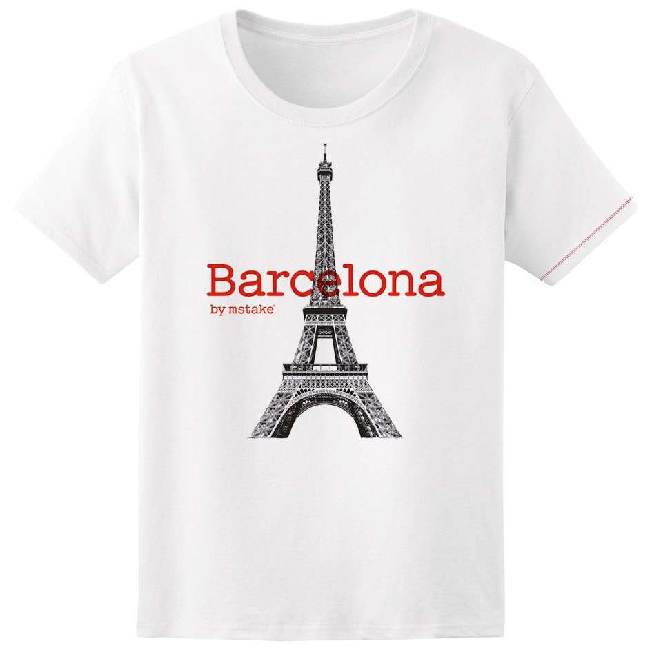 Barcelona + Eiffel  Woman White