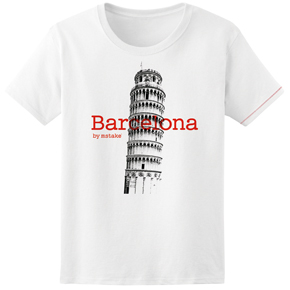 Barcelona + Pisa Woman White