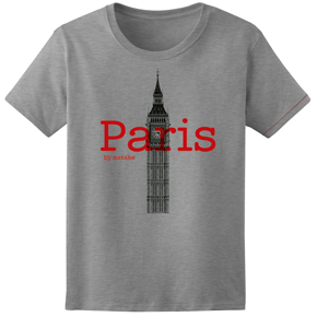 Paris + Big Ben Woman Grey